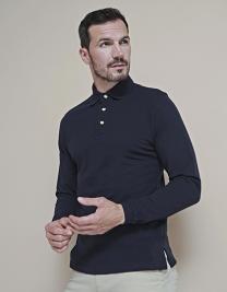 Long Sleeved Cotton Piqué Polo Shirt