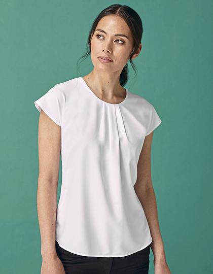 Ladies´ Pleat Front Short Sleeve Blouse